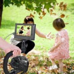 U-shaped Bracket DV Portable Handheld C Type Frame Photography Handheld SLR Camera  Stand Black