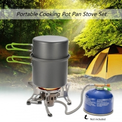 Mini Outdoor Camping Hiking Picnic Gas Cooking Food Water Windproof Stove