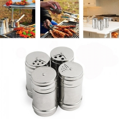 Stainless Steel Seasoning Cans Spice Jar Pepper Pot Storage Bottles BBQ Kitchen Tools At Picture