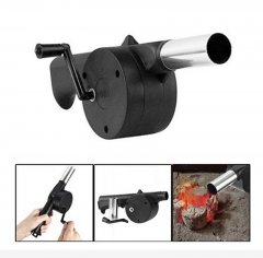 Outdoor Cooking BBQ Fan Air Blower For Barbecue Fire Bellows Hand Crank Tool for Picnic Camping At Picture