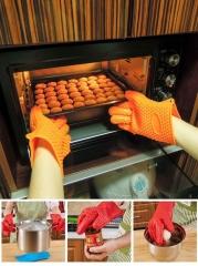 Kitchen Cooking Microwave Oven Non-slip Mitt Silicone Insulated Glove Colorful Kitchen Accessories Random Color-Single