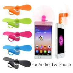 Mini 2 in 1 Portable Travel Mini USB + Micro USB Pocket Fan Fans Random Color