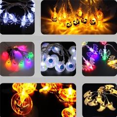 LED Skull Ghost Shaped LED String Lights Decoration Halloween Indoor Outdoor Lights Pumpkin-10LED