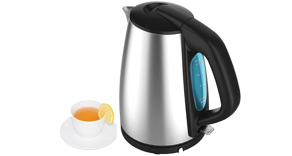 Ramtons 1.8L Stainless Steel Euro DLX Cordless Electric Kettle (RM/438) –  Silver