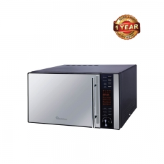 Ramtons Microwave with Grill & Digital Control Panel (RM/326) - Silver, 25 Litre Capacity 900 Watts