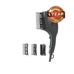 Ramtons Professional Hair Dryer (RM/446) with 3 Slide-on Attachments - Black 1600Watt Power