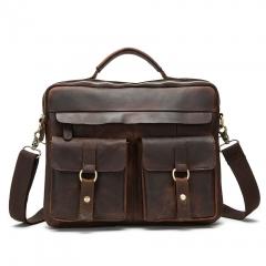 Mens Leather Handbag black 39*9*30