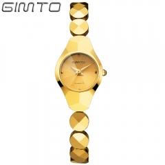 Fashion tungsten band bracelet watch waterproof watch gold