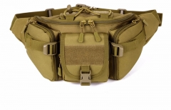 2017 Hot Canvas Waterproof Waist Belt Bag For Men brown one size