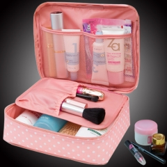 Beauty Case Make Up Organizer Toiletry bag kits Storage Travel Wash pouch pink one size