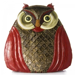 2017 women owl style bags Shoulder Bag ART bags for girl Retro Handmade Ladies owl style bags red one size