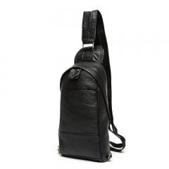 2017 Fashion Genuine Leather Crossbody Bags men casual messenger bag  Male Shoulder Bag black one size