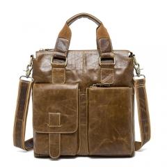 Genuine Leather  men's Briefcase Fashion cowhide Men's Messenger Bags brown 29*8*30