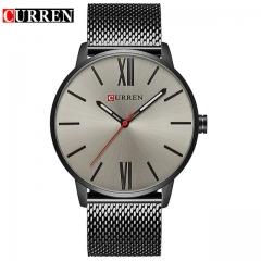 CURREN Luxury Brand Quartz Watch Men's Gold Casual Business Stainless Steel Mesh band Quartz-Watch BBH one size