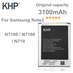 100% Note 2 KHP Original Battery Real 3100mAh AAA Replacement Mobile Phone Batteries black normal