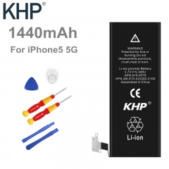 100% Original Brand KHP Phone Battery For iPhone 5 5G Real Capacity 1440mAh black normal