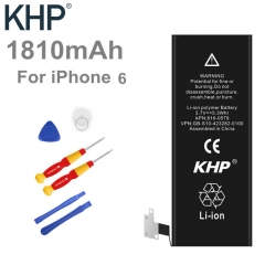 100% Original Brand KHP Phone Battery For iphone 6 Real Capacity 1810mAh black normal