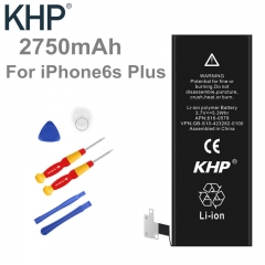 00% Mobile Batteries Original Brand KHP Phone Battery For iphone 6S Plus Real Capacity 2750mAh black normal
