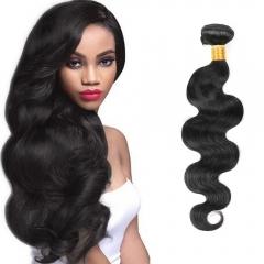 Indian Virgin Human Hair Weave Body Wave 1 PCS/lot 100g #1b natural black 8 inch