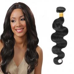 Malaysian Virgin Human Hair Weave Body Wave 1 PCS/lot 100g #1b natural black 8 inch