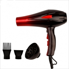 Hair Dryer Drier Professional Blow Hairdryer Diffuser Hot And Cold Wind+2Nozzles 4000W As Picture One Size