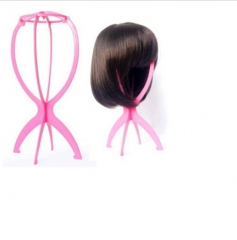 1Piece Plastic Stable Folding Wig Hair Hat Cap Durable Stand Holder Display Pink