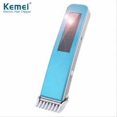 Kemei Professional Rechargeable Electric Hair Clipper Solar Charging Hair Trimmer as picture one size