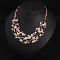 IFeel 2017Gold Plated Leaves Statement Necklace Women Collares Ethnic Jewelry for Personalized Gifts gold one size