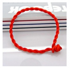 2017 Bracelet Red Rope Bangle Lucky Bracelets on the Leg for Women Cord String Line Handmade Jewelry Red 25cm