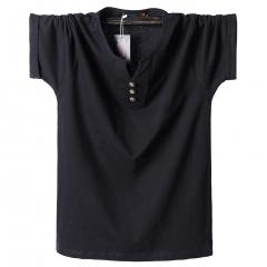 New T-shirt cotton half-sleeved men's polo shirt black m