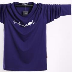 Long-sleeved t-shirt fashion large size large-size men's clothing sweater purple l