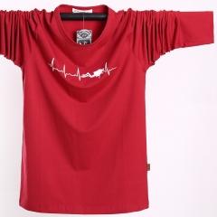 Long-sleeved t-shirt fashion large size large-size men's clothing sweater red xl
