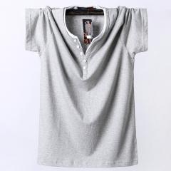 Short sleeve T-shirt, male oversize, men's T-shirt, pure cotton movement gray l