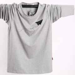 Long sleeved t-shirt men's large men's bottoming shirt thin gray l
