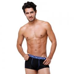 Men's underwear soft and comfortable four corners underwear blue l