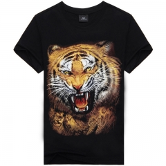 Men's 3D Tigers Print Short Sleeve T-Shirt AX-SMT-16 XXXL