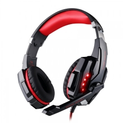 G9000 Gaming Headset écouteurs with Mic LED Light for PC PS4 X box One Phone Earphone White Red/Black
