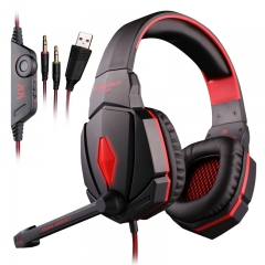 Each G4000 Gaming Headset Headphone with Mic for PC Game Casque d'écoute red/black