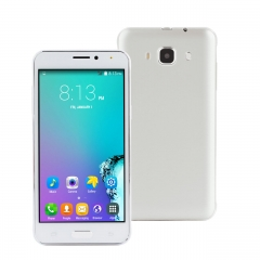 5 Inch Smartphone Phablet Dual Core 51MB RAM 4GB ROM 3MP Camera With Case Black White white