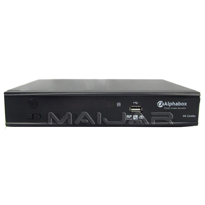 Free To Air Digital Satellite Receiver Alphabox X6 DVB-S2+T2 combo Support  cccam bisskey powervu
