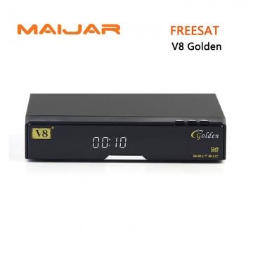 Original V8 Golden DVB-S2+C+T2 combo digital satellite receiver support cccam bisskey  powervu IPTV