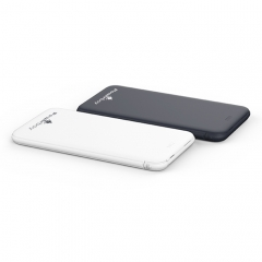 Ultra slim Power Bank with Built-in cable black 5000MHA