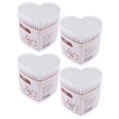 4 Set Cotton Buds Pure Cotton Swabs for Child and Medical White 460 Counts for Baby White One size