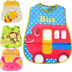 5PCS/Lot Cute Cartoon Baby Soft Bibs Waterproof  Bib Burp Cloths For Children Self Feeding Care For Girls One Size