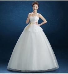 2017 new slim bra wedding dress elegant Sweet Princess Qi thin gauze white xs