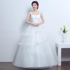 2017 new Korean version, double shoulder heart type thin Princess white s