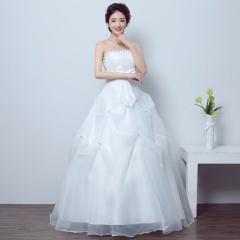 2017 new wedding dress white flowers Qi bra bra strap out of yarn thin Princess Wedding white s