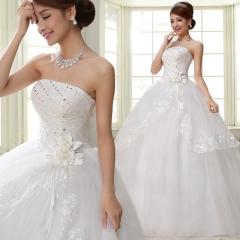 2017 sweet princess dress white wedding dress lace lace bridal Korean wedding dress white s