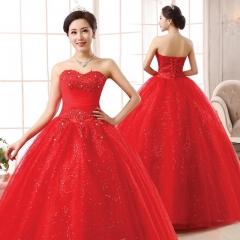 2017 Korean new bride flower lace bra straps Qi thin slim wedding wedding red xs