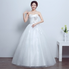 2017 Korean fashion long tailed Qi code thin bride wedding dress white s